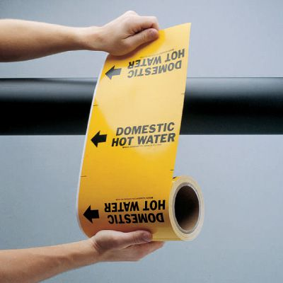 Wrap Around Adhesive Roll Markers - Condenser Water Return