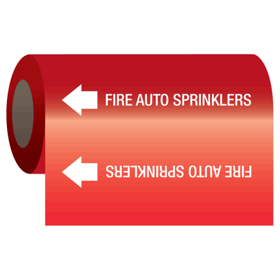 Wrap Around Adhesive Roll Markers - Fire Auto Sprinklers