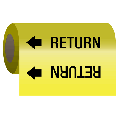 Wrap Around Adhesive Roll Markers - Return