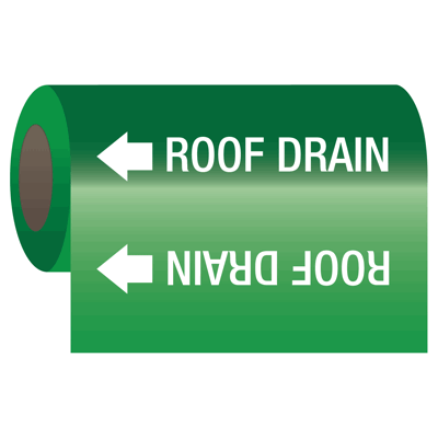 Wrap Around Adhesive Roll Markers - Roof Drain