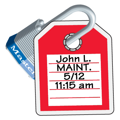Write-On Electrical Lock-Out ID Tags