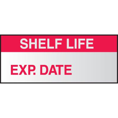 Write On Labels - Shelf Life Exp. Date