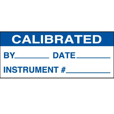 Calibrated Status Label - Blue