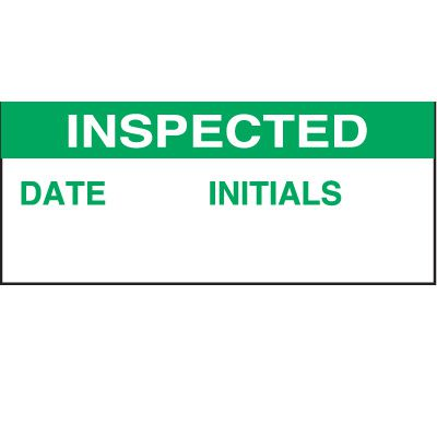 Inspected Date Status Labels