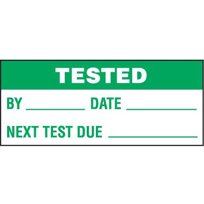 Tested Status Label