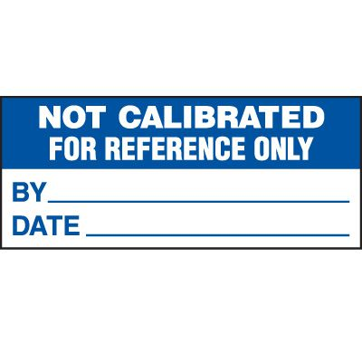 Not Calibrated Status Label