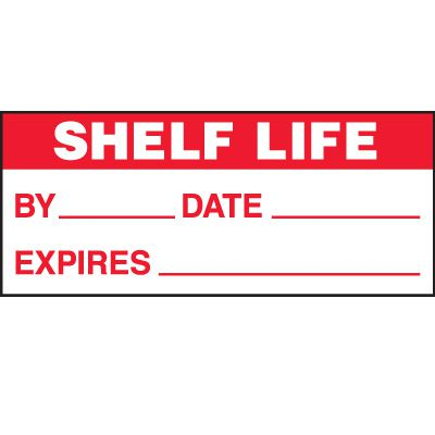 Shelf Life Status Labels