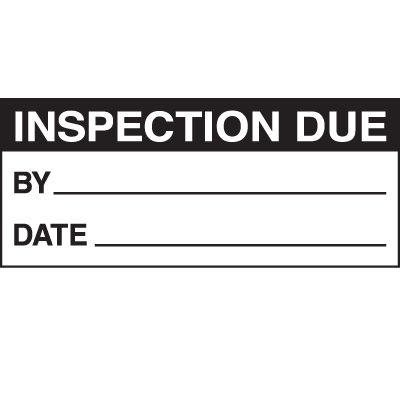 Inspection Due Status Label