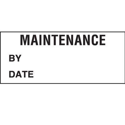 Maintenance Status Label