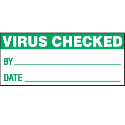 Virus Checked Status Label
