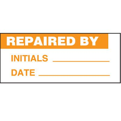 Repaired Status Label