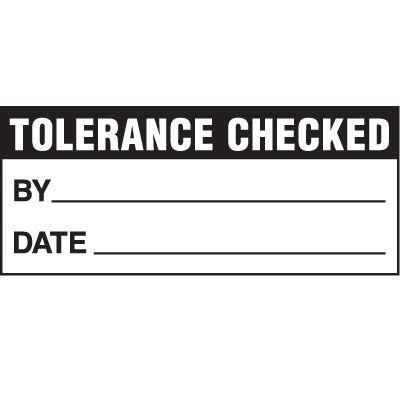 Tolerance Check Status Label