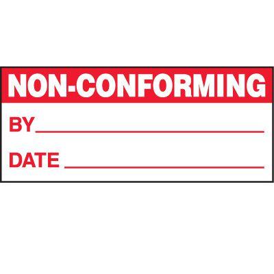 Non-Conforming Status Label