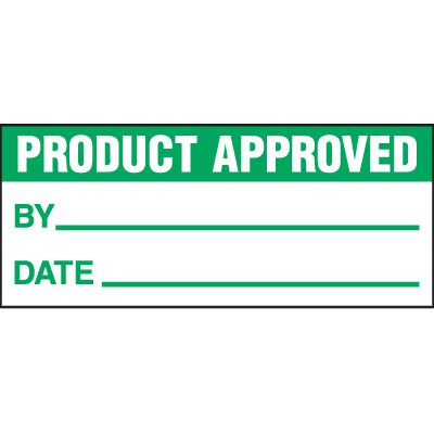 Product Approved Status Label