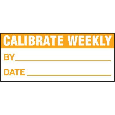 Calibrate Weekly Status Label