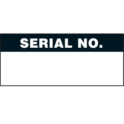 Serial Number Status Label