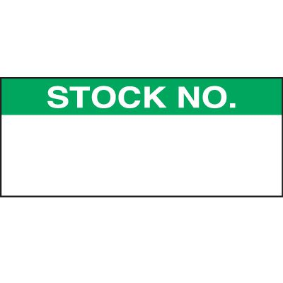 Stock Number Status Label