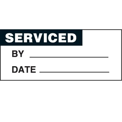 Serviced Status Label