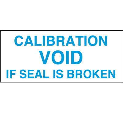 Calibration Void Status Label