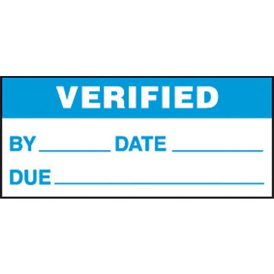 Verified Mini Write-On Status Label