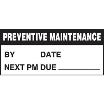 Preventive Maintenance Mini Write-On Status Labels