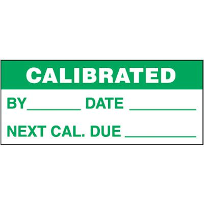 Calibrated Self-Laminating Status Labels
