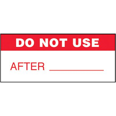 Do Not Use Self-Laminating Status Labels