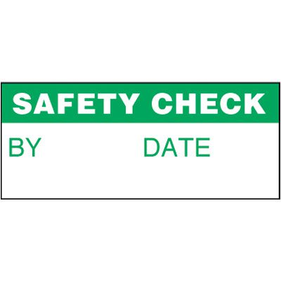 Safety Check Self-Laminating Status Labels