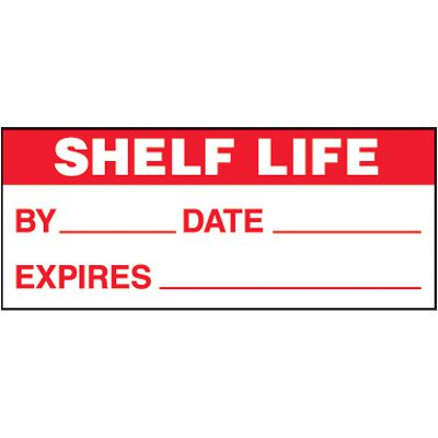 Shelf Life Self-Laminating Status Labels