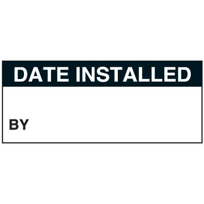 Write-On Status Roll Labels - Date Installed By ___