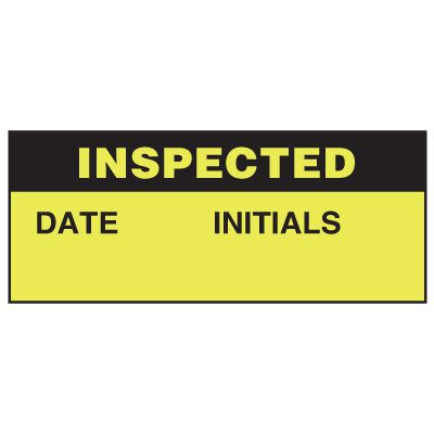 Write-On Status Roll Labels - Inspected ___ Date ___ Initials