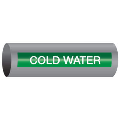 Xtreme-Code™ Self-Adhesive High Temperature Pipe Markers - Cold Water