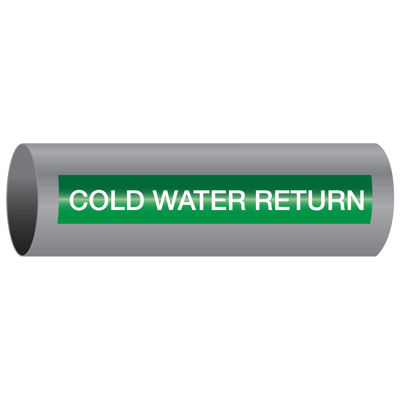 Xtreme-Code™ Self-Adhesive High Temperature Pipe Markers - Cold Water Return