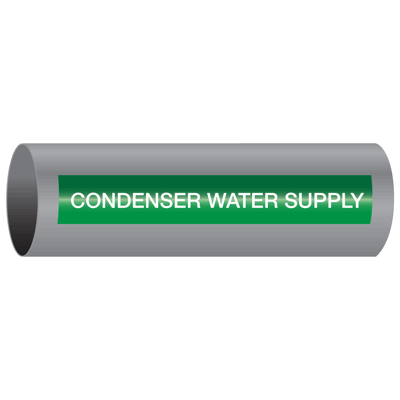 Xtreme-Code™ Self-Adhesive High Temperature Pipe Markers - Condenser Water Supply