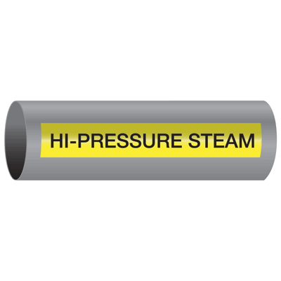 Xtreme-Code™ Self-Adhesive High Temperature Pipe Markers - Hi-Pressure Steam