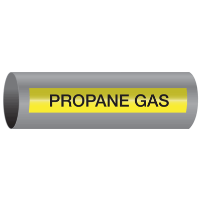 Xtreme-Code™ Self-Adhesive High Temperature Pipe Markers - Propane Gas