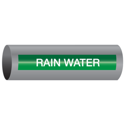 Xtreme-Code™ Self-Adhesive High Temperature Pipe Markers - Rain Water