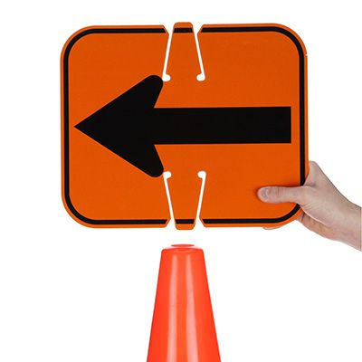 Traffic Cone Signs - Arrow