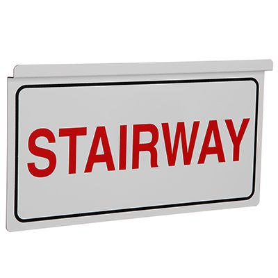 Stairway Drop Ceiling Double-Sided Sign