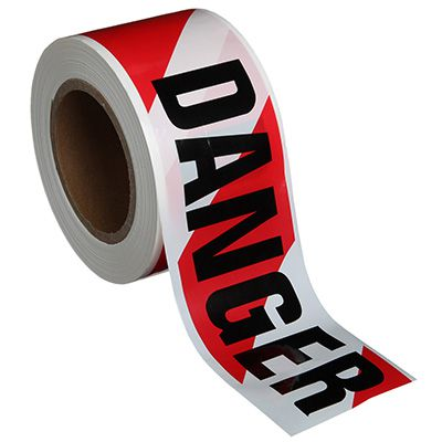 Danger Tape - Red/White Stripe