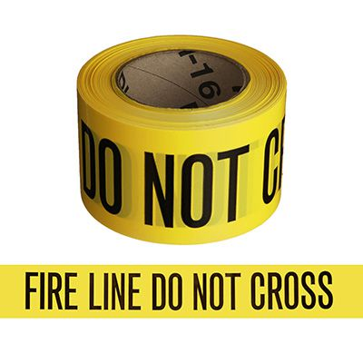 Fire Line barricade tape