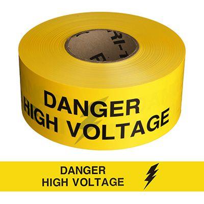 Barricade Tape - Danger High Voltage