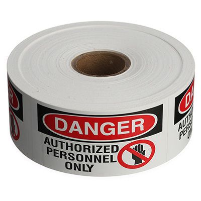 Safety Labels On A Roll - Danger Authorized Personnel Only