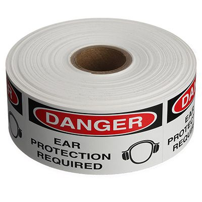 Safety Labels On A Roll - Danger Ear Protection Required