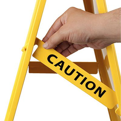 Cortina Lockin'arm Floor Stand Signs - Caution Wet Floor w/ Graphic