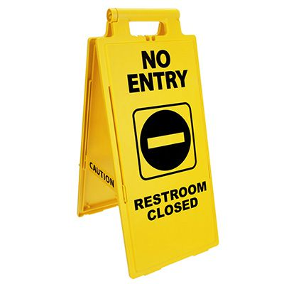 Cortina Lockin'arm Floor Stand Signs - No Entry Restroom Closed 03-600-37
