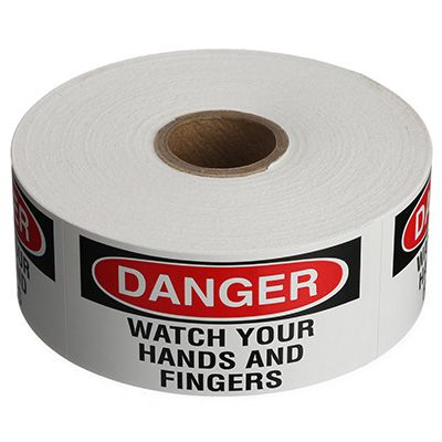 Safety Labels On A Roll - Danger Watch Your Hands And Fingers