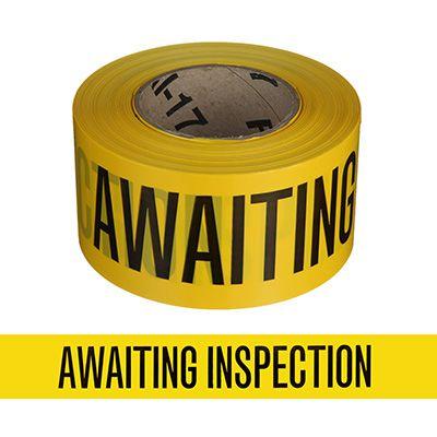 Quality Control Barricade Tape - Awaiting
