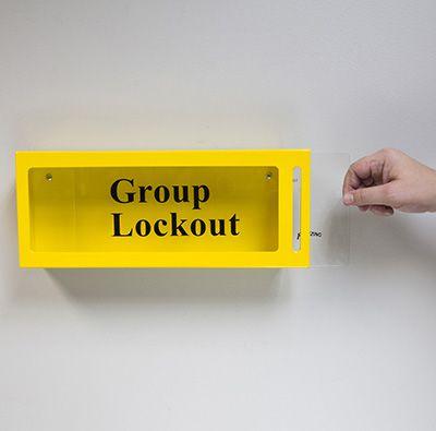 Brady Metal Wall Lock Box - Yellow - Part Number - 46134 - 1/Each