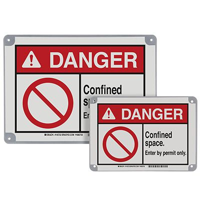 ToughWash® Encapsulated Signs - Danger Confined Space